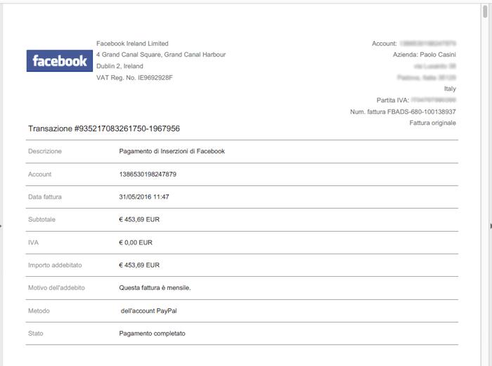 Super Come scaricare Costi e Fatture delle pubblicità in Facebook VB67
