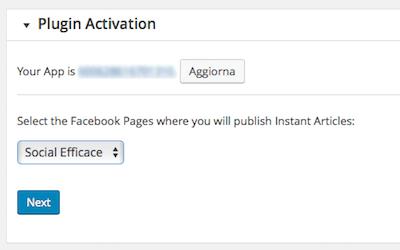 instant articles 12 - attivazione plugin step 4