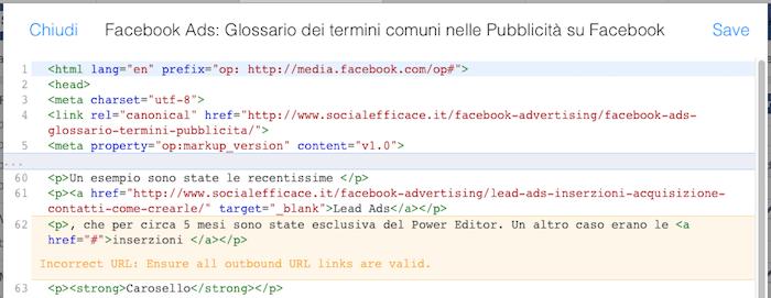 instant articles 24 - editor html modifica
