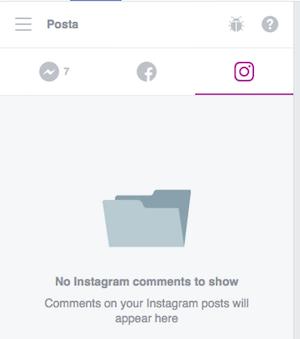 gestire instagram nella pagina facebook - gestione commenti nei messaggi