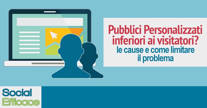 Perché il pubblico personalizzato è più piccolo dei visitatori del Sito Web?