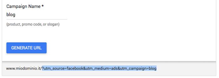 Google Anlytics traffico Facebook - URL Builder 02
