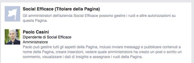 ruoli pagina facebook business manager