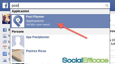 Post Planner programmare contenuti Pagina Facebook - installazione