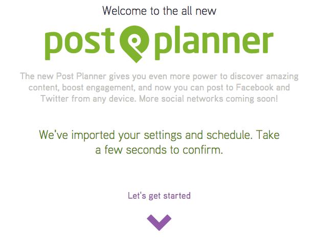 post planner installazione