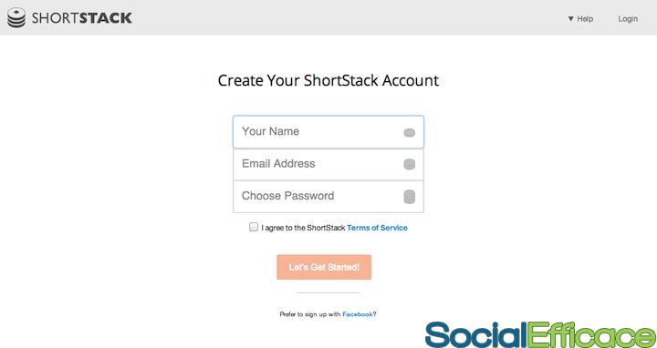 SHORTSTACK: creare APP per Pagina Facebook - Iscrizione