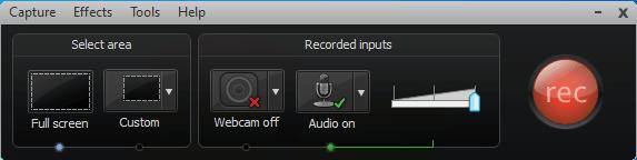 CAMTASIA: creare e modificare video facilmente - pannello registrazione
