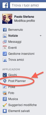 Post Planner programmare contenuti Pagina Facebook - come accedere