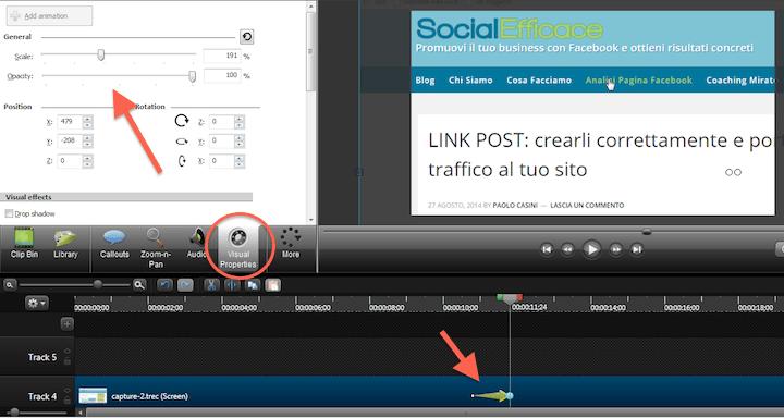 CAMTASIA: creare e modificare video facilmente - effetto zoom