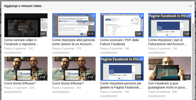 08 facebook video tab playlist aggiungi rimuovi