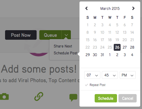 post planner programma post calendario