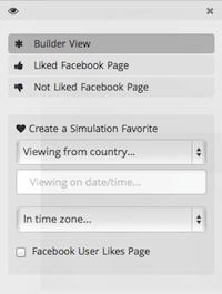 SHORTSTACK: creare APP per Pagina Facebook - Menu Visibilità