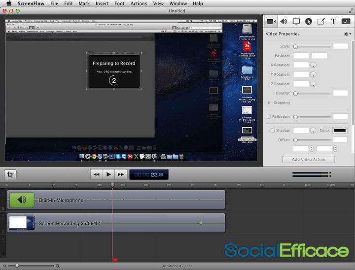 SCREENFLOW: creare e modificare video facilmente - interfaccia