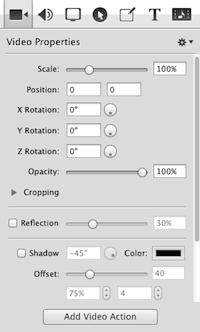 SCREENFLOW: creare e modificare video facilmente - menu video properties