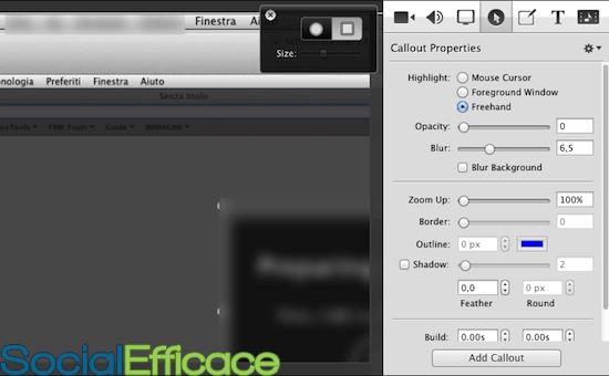 SCREENFLOW: creare e modificare video facilmente - menu callouts properties