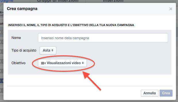 Cambiamenti Facebook 2014 - video ads inserzioni obiettivi