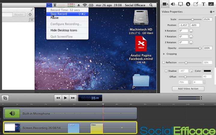 SCREENFLOW: creare e modificare video facilmente - creare effetto zoom