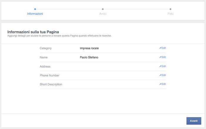 convertire profilo pagina - migrazione contenuti step 01 info