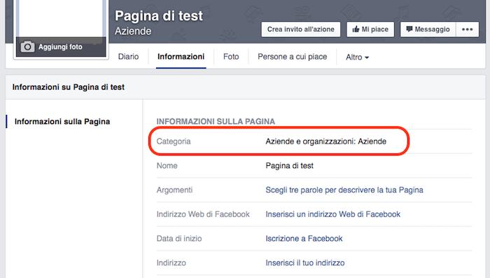 come creare pagina facebook - informazioni