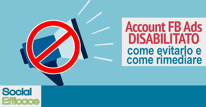 Blog 42 - Account Pubblicitario Disabilitato