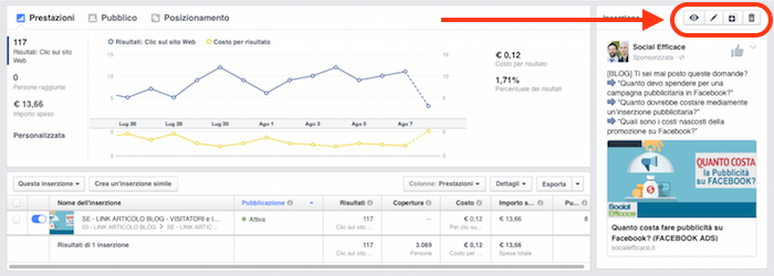 come modificare inserzione gestione inserzioni facebook ads