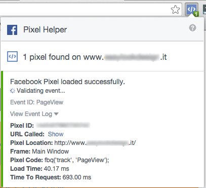 pixel facebook - test pixel helper