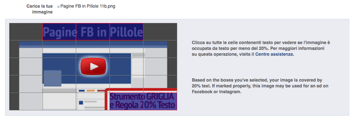 Strumento griglia e regola 20 percento testo - esempio di immagine