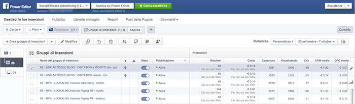 Modo corretto usare Strumenti Facebook Marketing - Power Editor