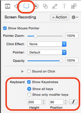 Screenflow mostra tasti e cursore