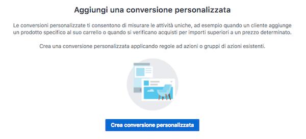 conversioni personalizzate - nuova conversione personalizzata