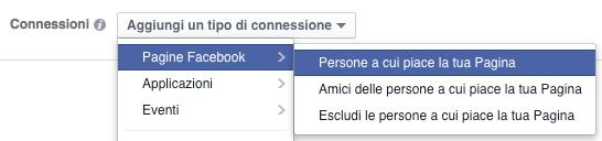 glossario facebook ads - connessioni