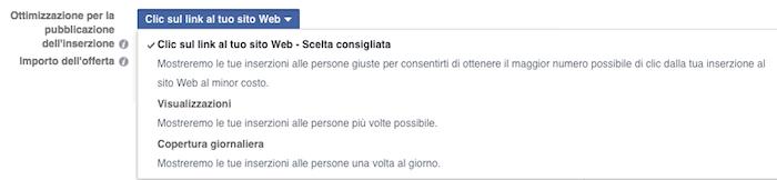 glossario facebook ads - ottimizzazione