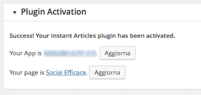 instant articles 13 - attivazione plugin step 5