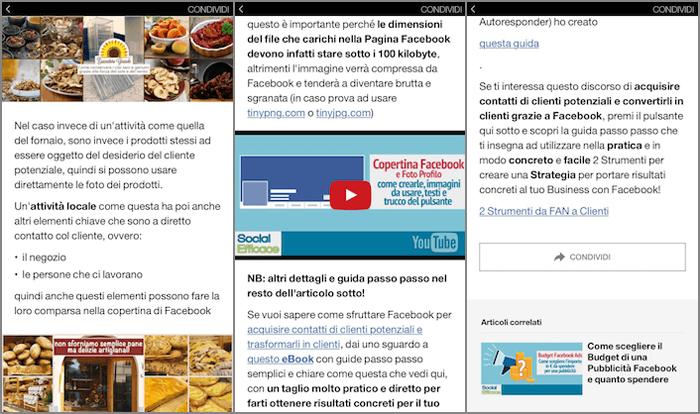 instant articles 28 - articolo interattivo preview