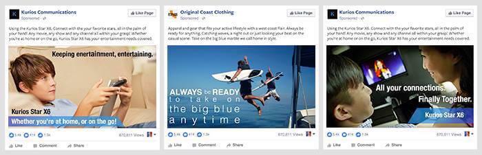 regola testo immagini fb ads - bassa esempi