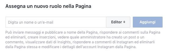 aggiungere amministratore pagina fb - aggiungi ruolo