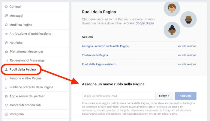 Come aggiungere amministratori ad una pagina Facebook