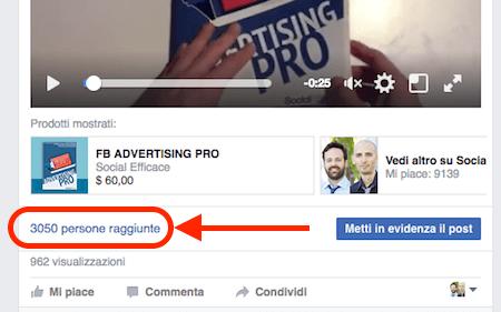 pagina fb novita 2016 - persone raggiunte copertura