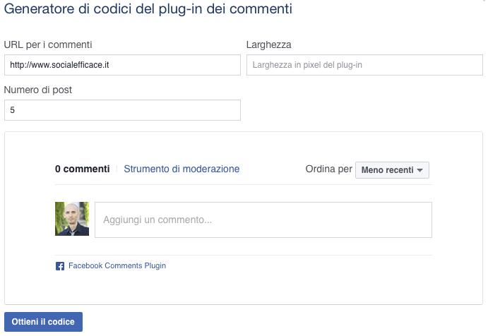 plugin-commenti-facebook-configurazione