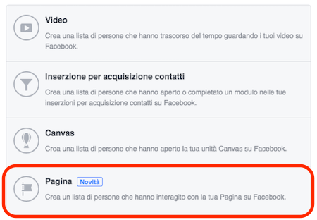 pubblico-target-interazioni-pagina-opzione-creazione