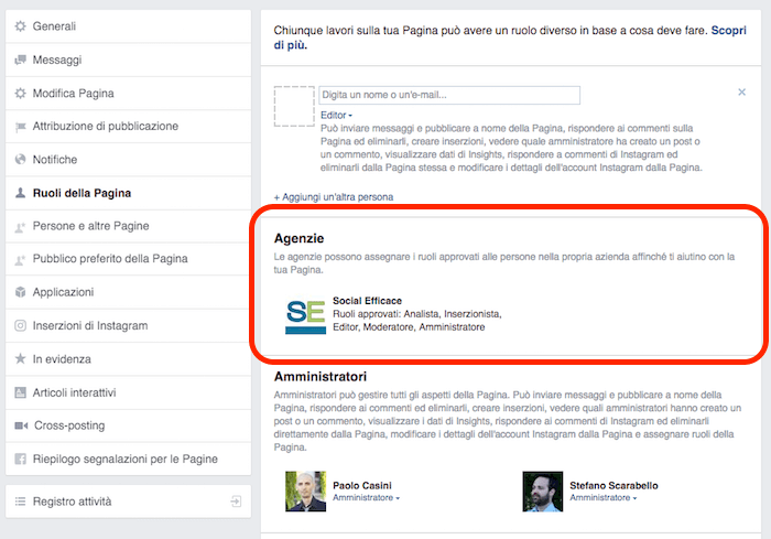 rimuovere eliminare business manager - bm nei ruoli pagina fb