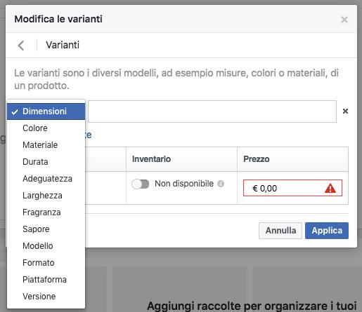 vetrina-pagina-facebook-varianti-prodotto-taglia-misura-colore-dimensioni