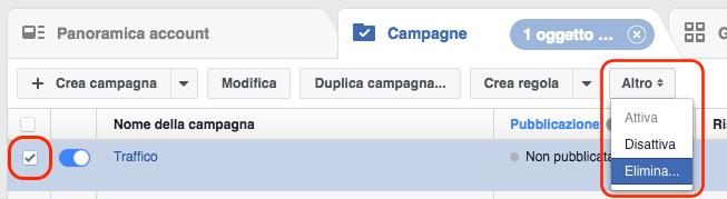 modifica anteprima link share - elimina campagna