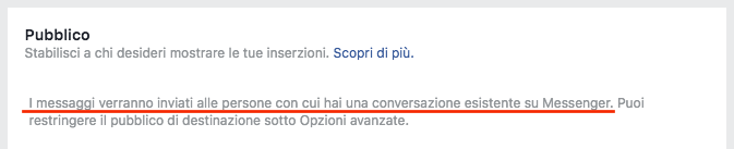 pubblico messaggi sponsorizzati facebook