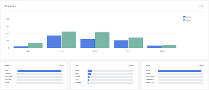 facebook analytics - dati demografici