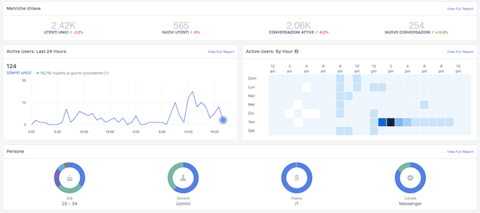 facebook analytics - panoramica