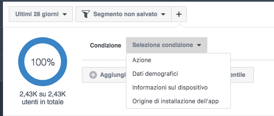 facebook analytics - segmento