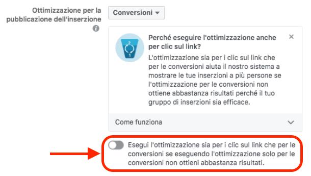ottimizzazione da click a conversioni