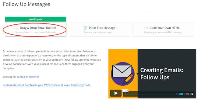 23 aweber creazione followup email automatiche 01