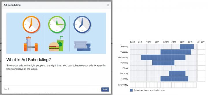 Orario migliore postare Facebook - ad scheduling orari inserzioni